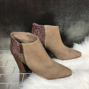 Parker Paisley Booties NEW